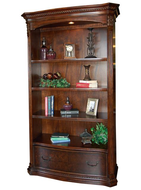 walnut world large bookcase with file drawer ebay