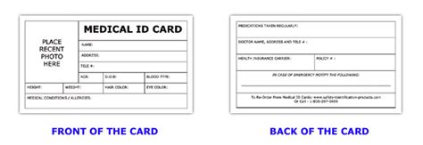 diabetic id card template id card template information id card