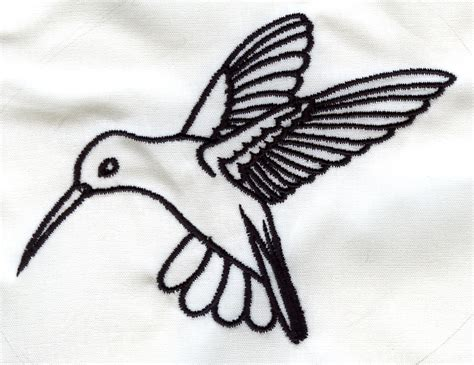 Hummingbird Outline Picture by Hummingbird Outline Zl66 Embroidery Design By Embroidery Central