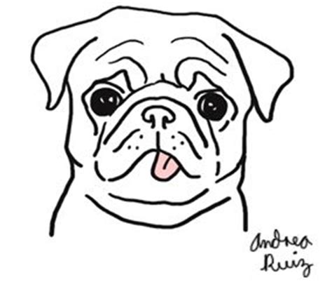 Pug Drawing Outline by Pug Drawing Sharpie
