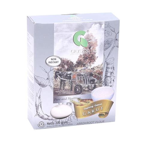 Gasol Tepung Organik jual gasol organik tepung arrowroot 200gr 200 gr