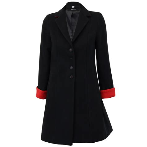 Button Jacket coat womens jacket wool look button