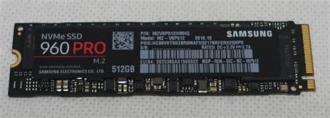Samsung 960pro Nvme Sam Ssd V6p1t0bw 1tb samsung 960 pro 512gbをレビュー 旧モデルや競合製品と発熱や温度比較 自作とゲームと趣味の日々
