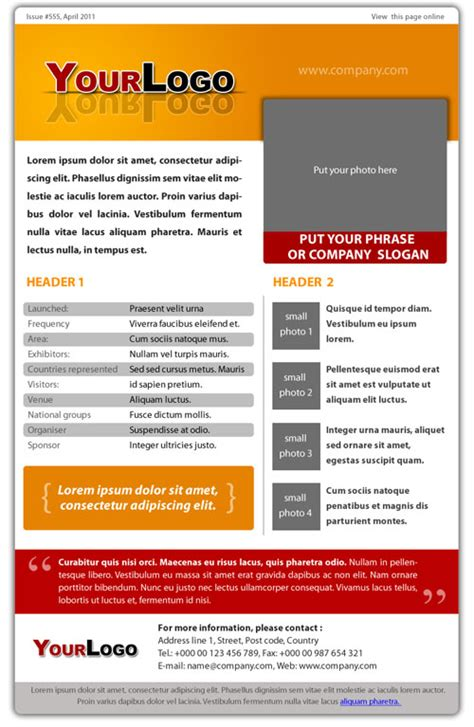 pure style e newsletter psd template 187 vector photoshop