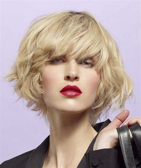 french womens haircuts short blonde wavy coloured french womens volume haircut