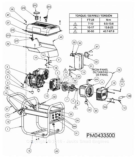 parts diagrams powermate formerly coleman pm0433500 parts diagram for