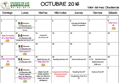 Calendario Octubre 2009 Calendario Octubre