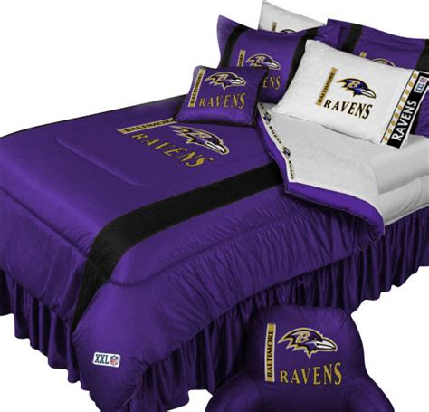 nfl baltimore ravens comforter pillowcase football bedding