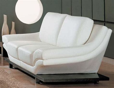White Leather Sleeper Sofa by Modern Leather Loveseats White Sofa Sofa Bed