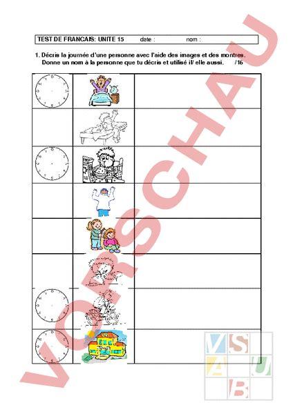 Musterbrief Angebot Französisch Www Unterrichtsmaterial Ch Franz 195 182 Sisch Gemischte Themen Test Unit 195 169 15 Envol 2