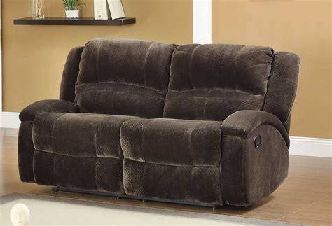 Microfiber Reclining Sofa And Loveseat Homelegance Alejandro Reclining Sofa Set Chocolate Textured Microfiber U9714 3