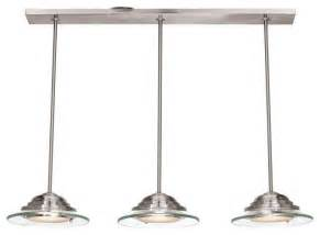 access lighting 50443 bs 8cl three light steel island light