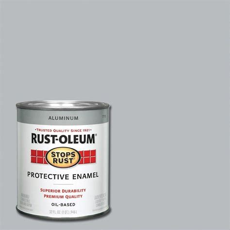 rust oleum stops rust 1 qt gloss smoke gray protective enamel paint 7786502 the home depot