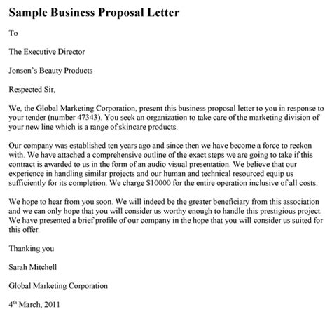 business letter sle the research proposal template sle business proposal letter
