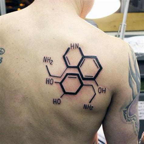 serotonin and dopamine tattoo 80 chemistry tattoos for physical science design ideas