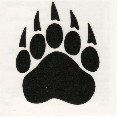 bear paw print tattoo grizzly paw print grizzly paw print