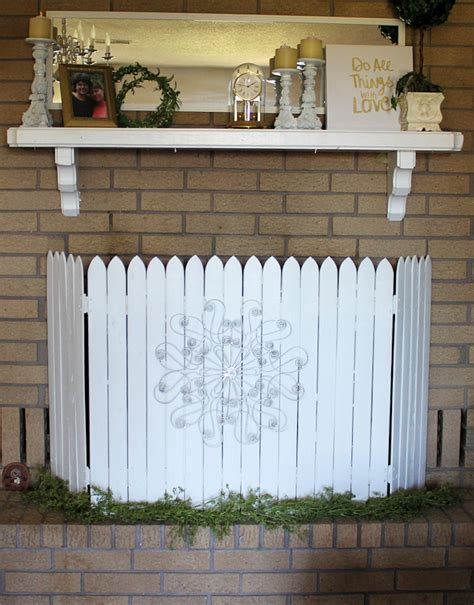 Whimsy Picket Fence How To Make A Picket Fence Fireplace Cover