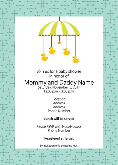 baby shower invitation template free baby shower invitation template wblqual