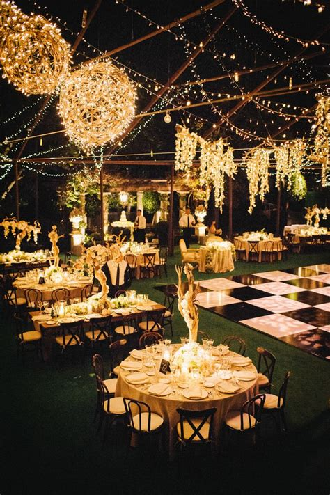 Outdoor Wedding Lighting Ideas Bel Air Estate Wedding Floors Receptions And Design