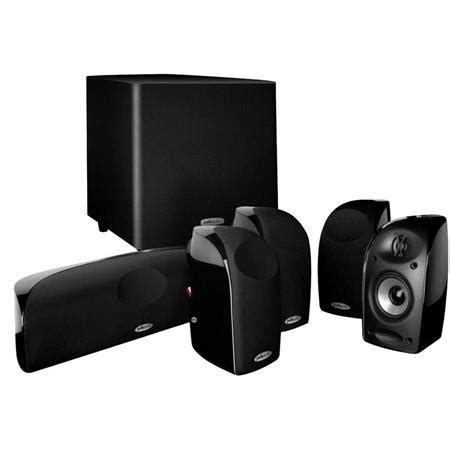 polk audio tl1600 5 1 compact home theater system with
