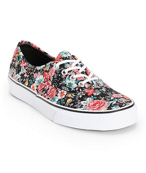 Vans Authentic Floral vans authentic floral print shoes womens at zumiez pdp