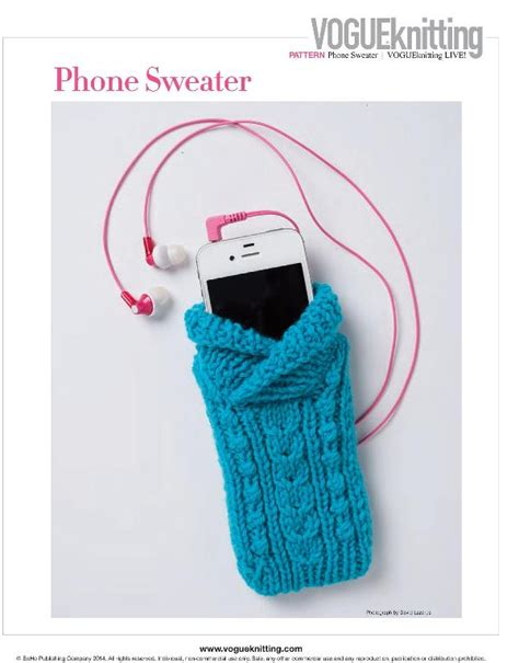 how to knit a cell phone vogue knitting live nyc 2015