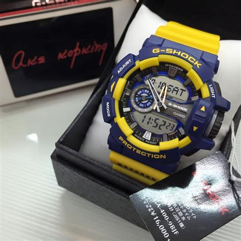 Casio Gshock Ga400 Redgrey live photos g shock ga 400 all black gray blue yellow