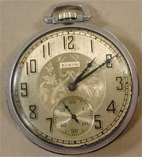 vintage elgin pocket runs clocks watches