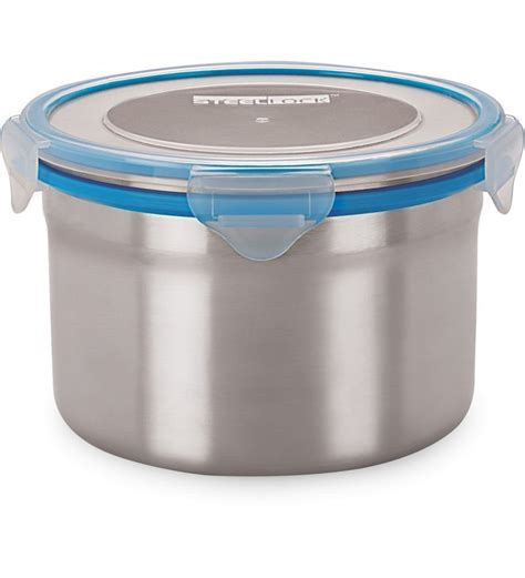 airtight food container steel lock blue grey airtight storage food containers 1350 ml by steel lock