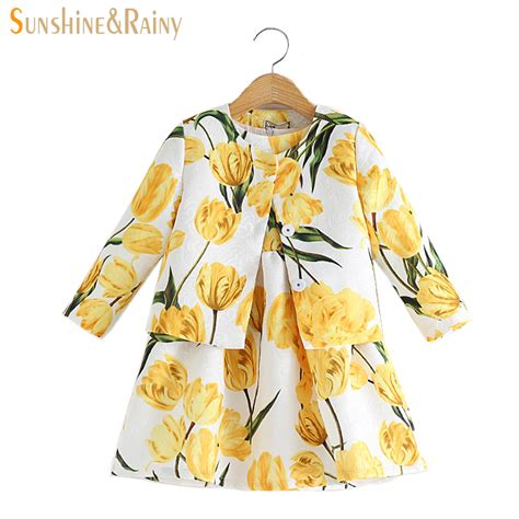 pattern design children s clothes sunshine rainy spring baby girls clothing sets tulip