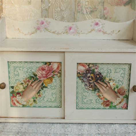 decoupage cupboard vintage cupboard hp roses decoupage our cottage garden