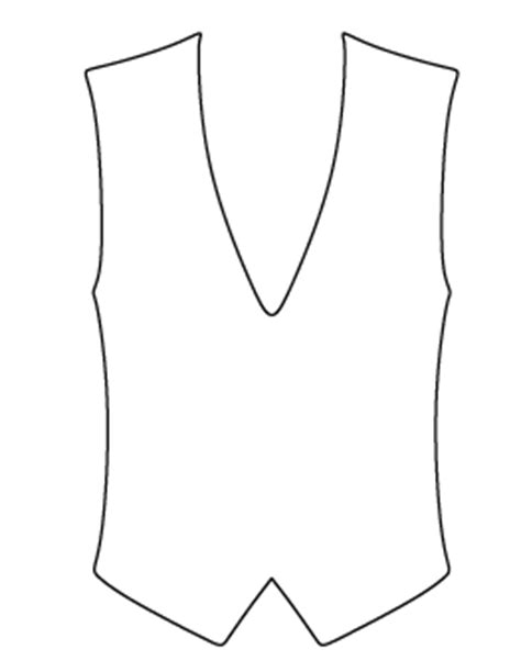 printable baby vest pattern free shape and object patterns for crafts stencils and