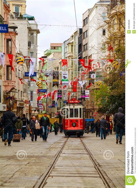 Old-fashioned Red Tram At The Street Of Istanbul Editorial ... Free Clipart On The Web