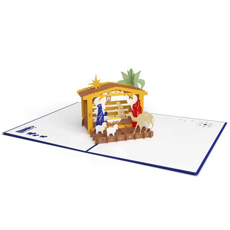 pop up nativity card template 3d nativity pop up card lovepop