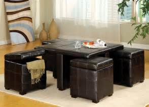 Ottoman Coffee Table Storage Unit Combination 36 Top Brown Leather Ottoman Coffee Tables