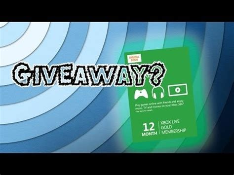 Xbox Live Code Giveaway 2016 - xbox live gold code giveaway youtube