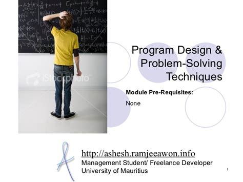 design problems that need solving program design and problem solving techniques