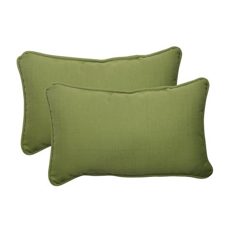 Shop Throw Pillows by Shop Pillow Forsyth 2 Pack Green Solid Rectangular