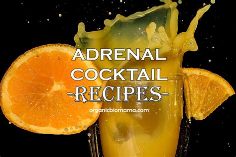 Adrenal Cocktail Detox by Adrenal Cocktail Recipes Fight Fatigue Support Adrenals