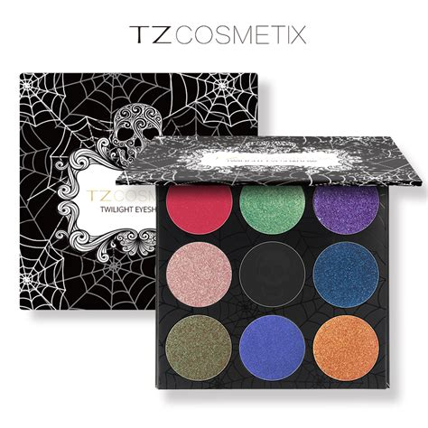 Tz Leopard Make Up Palette tz brand 9colors eyeshadow palette matte glitter foiled eye shadow in one palette blush