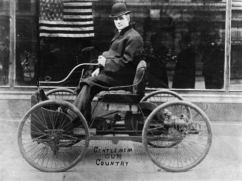 first car ever made by henry ford henry ford in his first car a picture from the past