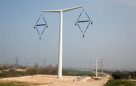 pylon design competition national grid national grid builds trial t pylon transmission line