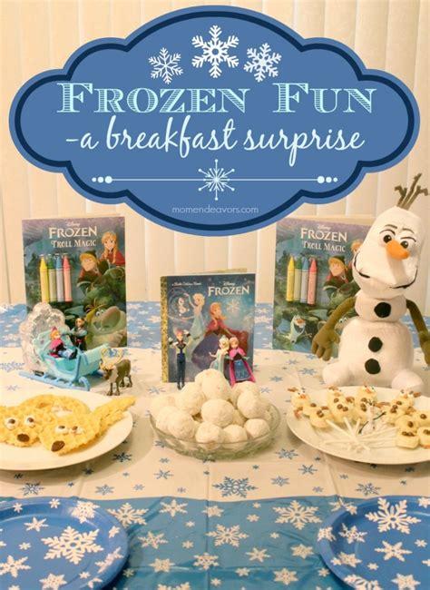 christmas inspired breakfast disney frozen themed breakfast mini ideas frozenfun