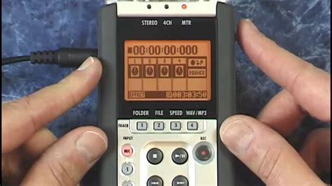 video tutorial zoom h4n zoom h4n tutorial review multitrack bouncing youtube