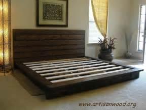 Custom Made King Bed Frames Custom King Rustic Platform Bed By Artisan Wood