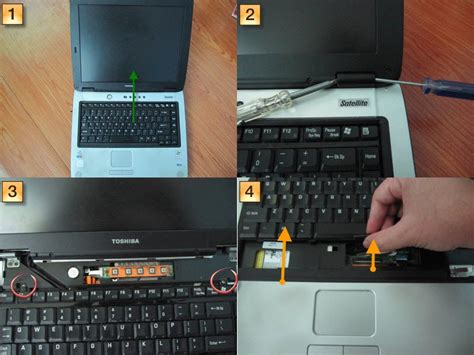 diy howto make how to open toshiba satellite a60 notebook series keyboard