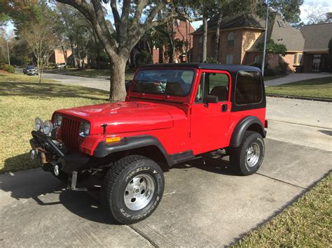 jeep red two door 1989 jeep wrangler laredo sport utility 2 door 4 2l