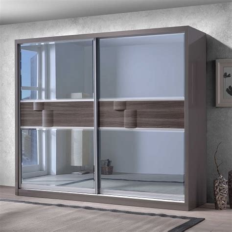modern door mirrors and doors on pinterest swindon wooden sliding wardrobe in grey gloss with 2 mirror door wardrobes pinterest doors