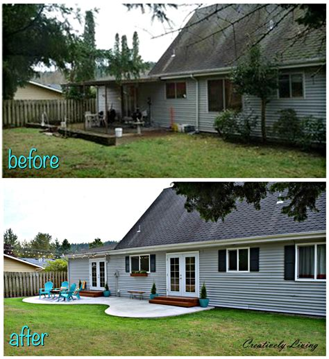 backyard makeovers before and after backyard makeover the big reveal creatively living blog