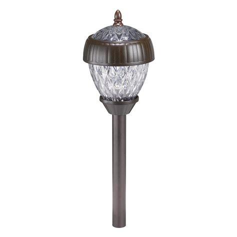 home depot walkway lights hton bay acorn 2 light solar pathway light set 6 pack